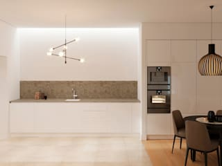 Projeto e remodelação de apartamento - Lisboa por UPFLAT Moderno