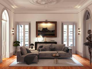 Ausgefallene Wohnzimmer von UPFLAT Ausgefallen