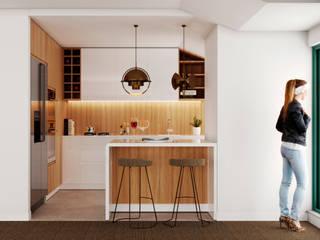 Projeto e remodelação de cozinha - Paço D'Arcos por UPFLAT Moderno