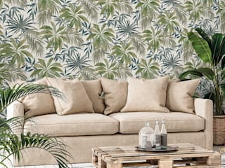 Papel Tapiz Colección Contempo:  de estilo tropical por Decora Pro, Tropical