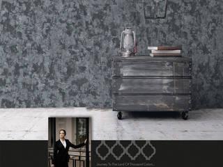 Papel Tapiz Colección Contempo Decora Pro Paredes y pisosDecoración de paredes Papel Gris