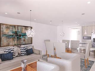 Salones de estilo moderno de DIKTURE Arquitectura + Diseño Interior Moderno