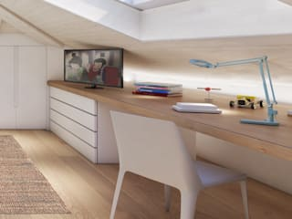 Modern Study Room and Home Office by Feng Shui Studio Modern