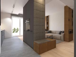 Projekt mieszkania w stylu nowoczesnym Nowoczesny korytarz, przedpokój i schody od OKFORM Projektowanie wnętrz Nowoczesny