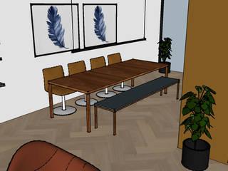 Nieuwbouwwoning jong gezin Moderne woonkamers van Dees interieur Modern