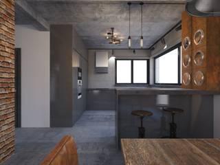Projekt domu w stylu loft od OKFORM Projektowanie wnętrz Industrialny