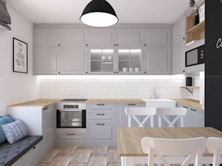 Kuchnia w stylu skandynawskim od OKFORM Projektowanie wnętrz Skandynawski