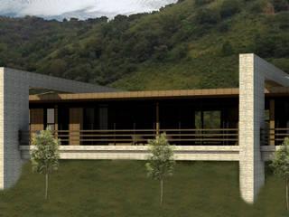 HOSTERIA VALLE COLORADO Casas rústicas de Arq Cruzsajama Rústico