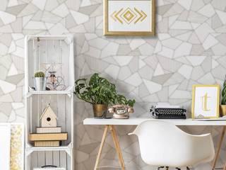 Colección de Papel Tapiz More Decora Pro Paredes y pisos de estilo moderno Blanco
