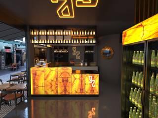 Bar Projesi - Beşiktaş FURKAN GEDIK INTERIOR DESIGN & ARCHITECTURE Endüstriyel Bar & Kulüpler Mermer Siyah