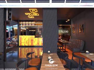 Bar Projesi - Beşiktaş FURKAN GEDIK INTERIOR DESIGN & ARCHITECTURE Endüstriyel Bar & Kulüpler Metal Altın Sarısı