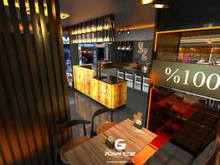 Bar Projesi - Beşiktaş FURKAN GEDIK INTERIOR DESIGN & ARCHITECTURE Endüstriyel Bar & Kulüpler Cam Siyah
