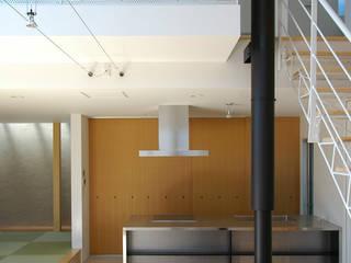HOUSE-SI 島田博一建築設計室 モダンデザインの リビング