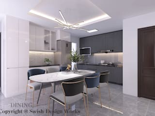 Swish Design Works Modern kitchen Plywood Grey