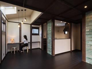 宇治の家 ラスティックデザインの ダイニング の I.M.A DESIGN OFFICE (アイエムエーデザインオフィス)一級建築士事務所 ラスティック