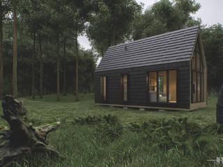 Cabin House Studio AW Nowoczesne domy od Architekt Łukasz Bulga Studio A&W Kraków | Projekty domów nowoczesnych Nowoczesny