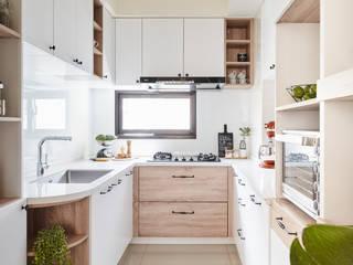 廚房 禾宇室內設計 Kitchen units MDF Wood effect