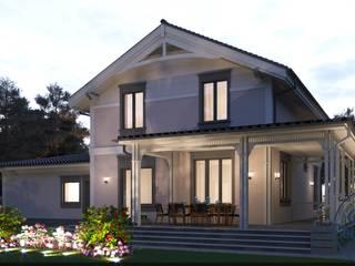 Minimalistische Häuser von Компания архитекторов Латышевых 'Мечты сбываются' Minimalistisch