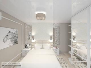 Дизайн малометражной квартиры Спальня в стиле модерн от Kiev Design Online Studio Модерн