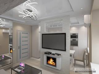Дизайн малометражной квартиры Гостиная в стиле модерн от Kiev Design Online Studio Модерн