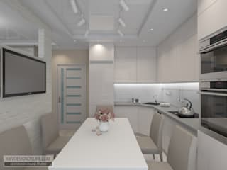 Дизайн малометражной квартиры Кухня в стиле модерн от Kiev Design Online Studio Модерн