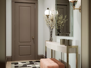 Classic corridor, hallway & stairs by MARION STUDIO Classic