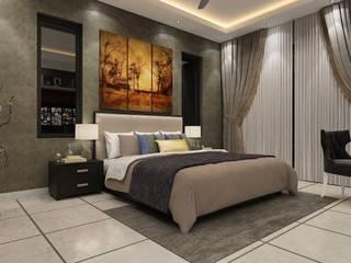 Casa Lua Modern style bedroom by Archizi Modern