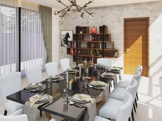 Casa Lua Modern dining room by Archizi Modern