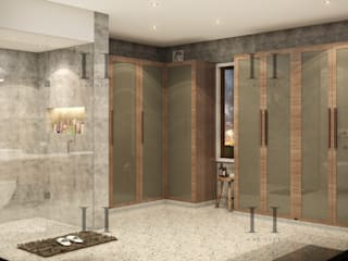 47 Residence Rustic style bathroom by Archizi Rustic