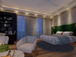 Villa 3, Vasant Kunj Minimalist bedroom by Archizi Minimalist