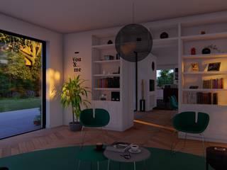 Villa 3, Vasant Kunj Minimalist corridor, hallway & stairs by Archizi Minimalist