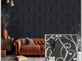 Colección de Papel Tapiz More Decora Pro Paredes y pisos de estilo clásico Azul