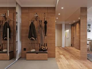 Pasillos, vestíbulos y escaleras de estilo escandinavo de Vashantsev Nik Escandinavo