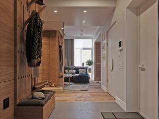 Vashantsev Nik 北欧スタイルの 玄関&廊下&階段