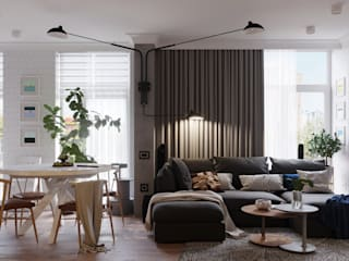 Scandinavian style living room by Vashantsev Nik Scandinavian