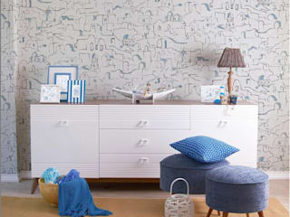 Papel Tapiz Decora Pro - Colección More 613710 - Mediterranean Paredes y pisos de estilo mediterráneo de Decora Pro Mediterráneo