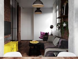 Industrial style living room by Vashantsev Nik Industrial