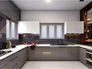 Monnaie Interiors Pvt Ltd Built-in kitchens