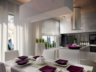 Проект коттеджа в г. Оренбург Кухня в стиле минимализм от INDes Минимализм