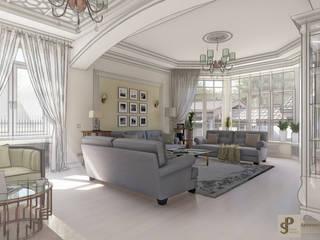 Загородный дом в пос. Папушево-интерьеры Гостиные в эклектичном стиле от Архитектурная дизайн-студия СеНат Эклектичный