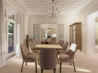 Загородный дом в пос. Папушево-интерьеры Столовая комната в эклектичном стиле от Архитектурная дизайн-студия СеНат Эклектичный