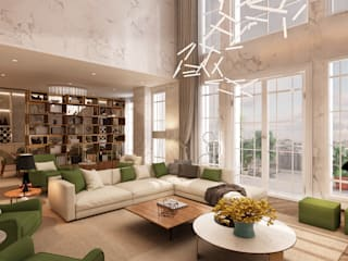 Projeto de interiores , Albufeira Alpha Details Salas de estar modernas