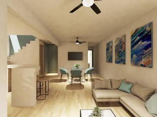 Salas de estilo moderno de Punto Libre Arquitectura Moderno