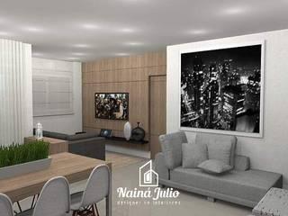 RESIDENCIAL NO ESTILO MINIMALISTA por Nainá Julio - Designer de Interiores Minimalista