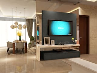 Apartment Design In Noida : modern  by HC Designs,Modern