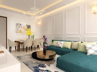 HC Designs Living room White