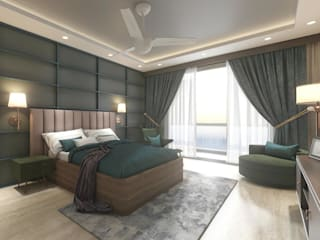 bedroom Modern style bedroom by HC Designs Modern