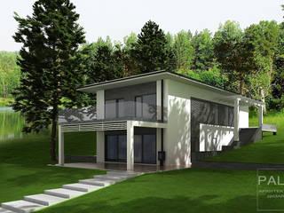 Дом с плоской крышей от PALIY Architects Средиземноморский