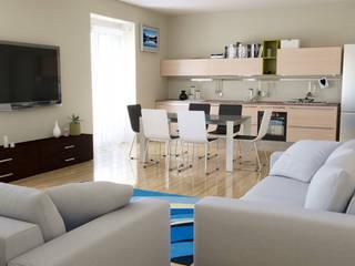Render interni arredamento per agenzia immobiliare di Torino di Stefano Mimmocchi Rendering