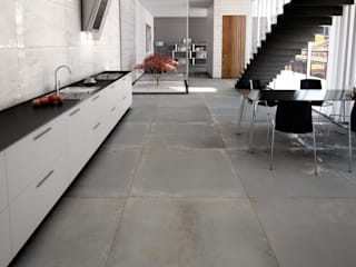 Tuscania S.p.A. Modern dining room Tiles Grey